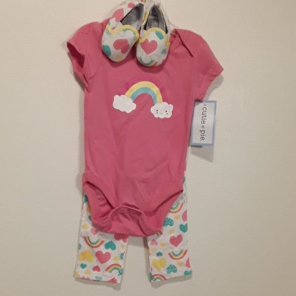 Other - 3 Piece Baby Girl Set 3-6 Month New with Tags